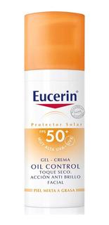 Eucerin Protector Solar Gel Creme Oil Control 50+ Toque Seco