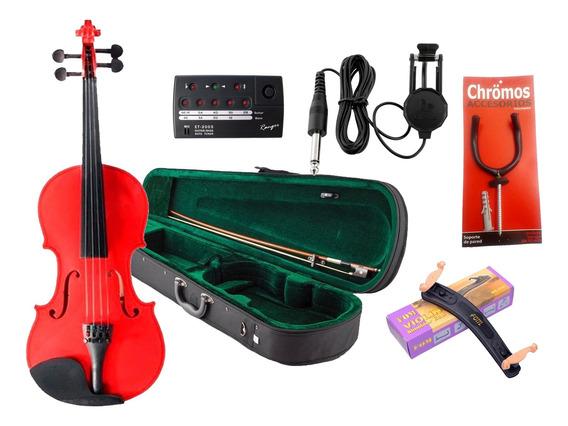 Combo Violin Estudio Madera 1/4 1/2 3/4 4/4 + Accesorios