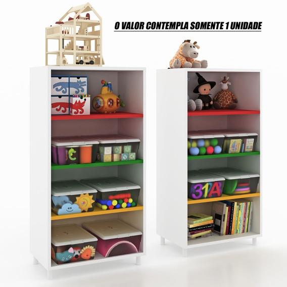 Estante Organizador Brinquedos Prateleiras Coloridas