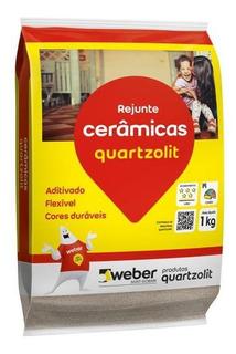 Rejunte Aditivado Flexível Branco 1kg Quatzolit