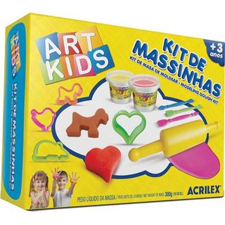 Kit De Massinha 3 300g Acrilex Art Kids Cars