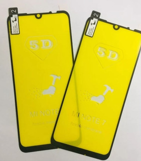 Películas 5d Gel Flexível Xiaomi Redmi Note 7