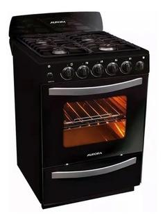 Cocina Aurora Argenta Len2 Negra Horno Autolimp. Enc. Elec.