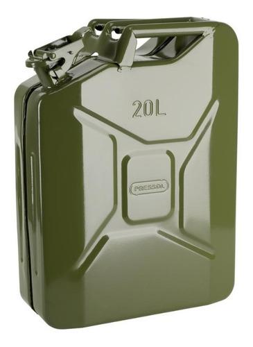 Imagen 1 de 2 de Bidón Tanque Metálico Combustible 10 Lts. Tipo Militar - Tyt