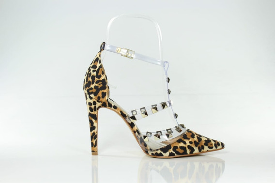 Scarpin Salto Alto Week Shoes Inspired Onça Animal Print