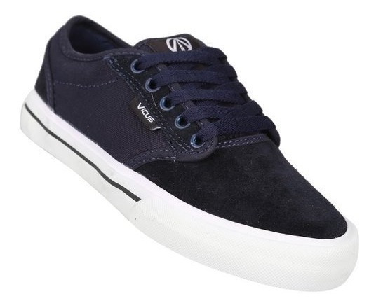 Zapatillas Vicus Folk Junior Azul Y Negro/gris