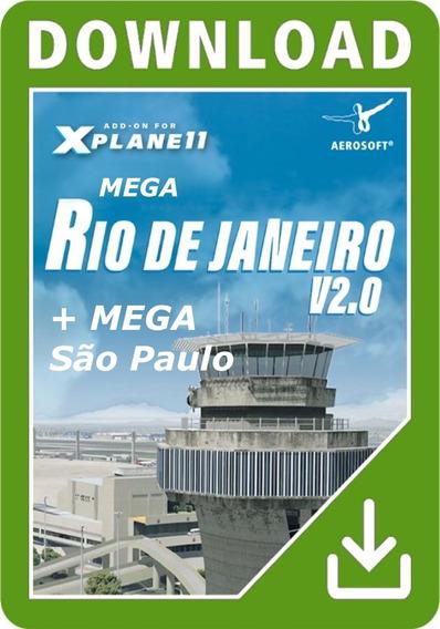 [xp11] X-plane 11 - Mega Cenários Rio De Janeiro E Sp 2019