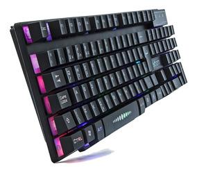 Teclado Semi Mecânico Gamer Luminoso Usb Pc Computador Abnt2