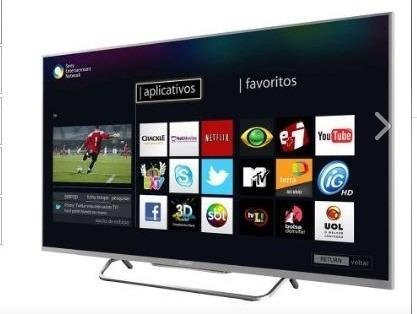Tv 50 Sony - Netflix E Outros Apps Modelo 50w805b + Brinde