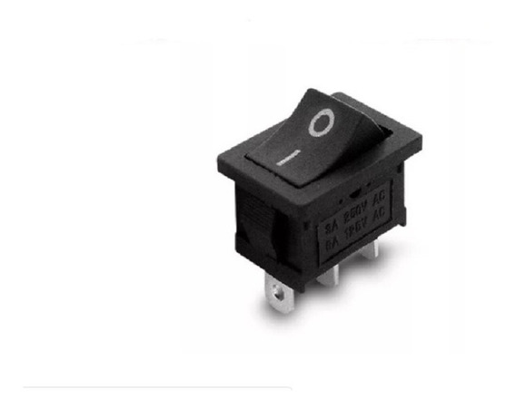 Llave Tecla 3 Patas On-on 3a 250v 21.4 X 15mm