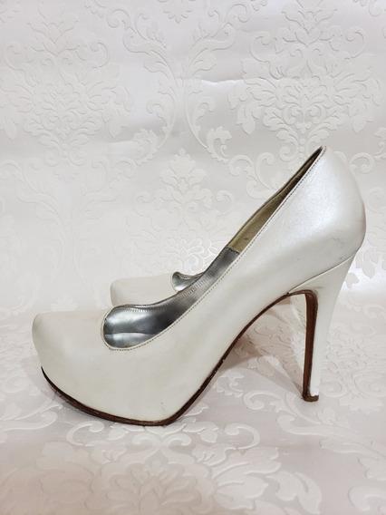 Stilettos Blanco Perla 38