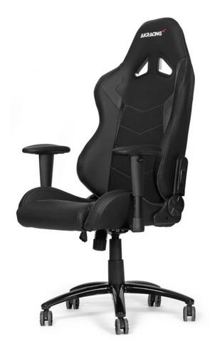Imagen 1 de 1 de Silla de escritorio Akracing Octane gamer ergonómica  black con tapizado de cuero sintético