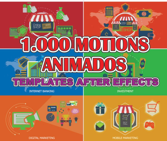 Template 1.000 Icones Animados Projetos After Effects