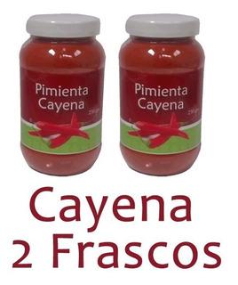 Pimienta Cayena 2 Frascos 250grs Chili Sazonadores