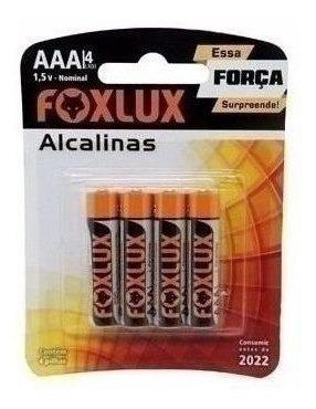 Pilha Foxlux Alcalina Palito Aaa 10x4 42219