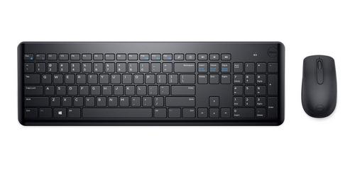 Imagen 1 de 5 de Kit de teclado y mouse inalámbrico Dell KM117 Español de color negro