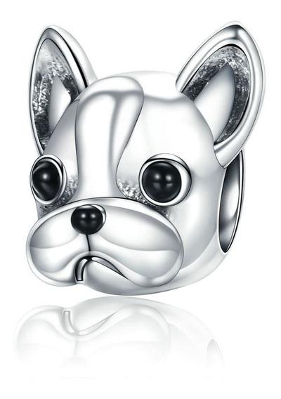 Charm Perro Bulldog Plata Fina 925 Estilo Pandora /todojoyas