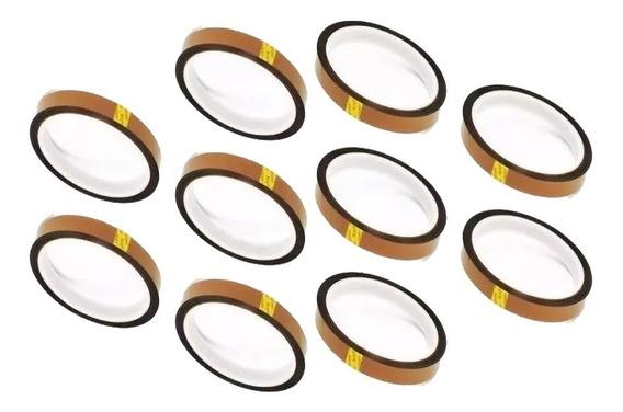 10 Fita Adesiva Térmica Para Sublimação 5mm X 33m Kapton