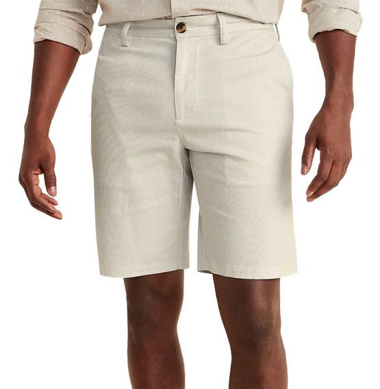 Bermuda Hombre Short Casual Khaki Slim Flex Clásico Old Nav