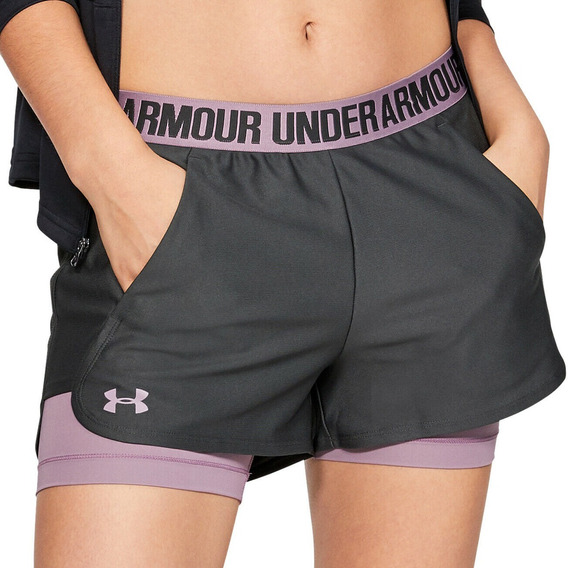 Short Under Armour Training Play Up 2in1 Mujer Go/ma