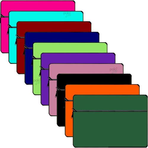 Imagen 1 de 3 de Funda Notebook Neoprene 13 14 15 17 Pulgadas C/ Bolsillo Ext