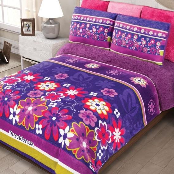 Cobertor Matrimonial Providencia Cozumel Con Borrega