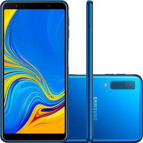 Smartphone Samsung A7, Azul, A750g, Tela De 6 , 64gb 24mp