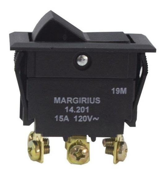 Chave 14201 Interruptor Tecla Bipolar Liga/liga 15a 2 Posiçõ