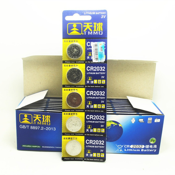 10 Unidads Pila Cr2032 Tarjetas Madre Pc Lithium Battery
