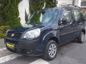 Fiat Doblo 1.8 Essence 2014 Azul 7 Lugares Completa