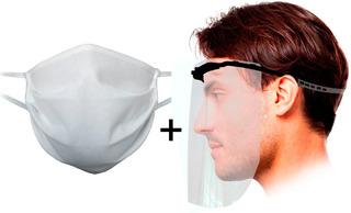 Kit Sanitario 1 Barbijo + 1 Mascara Protectora Facial - Sti