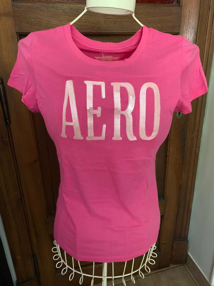 Remera Aeropostale Lentejuelas Rosa Chicle Talle L