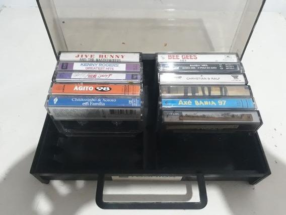 Porta Cassete K7 Maleta 16 Fitas !! + Leia !