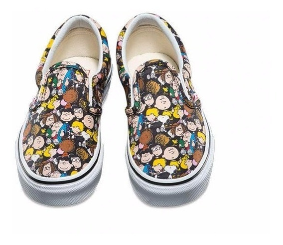 Tenis Vans Peanuts The Gang Classic Slip-on Charlie Brown