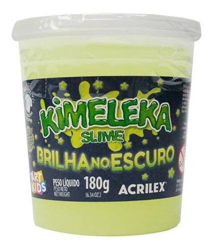 Kimeleka Slime Glow In The Dark Acrilex 180g X3 Unid