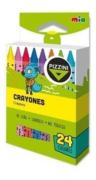Crayones Pizzini Clasico Corto X 24 Colores - 9324