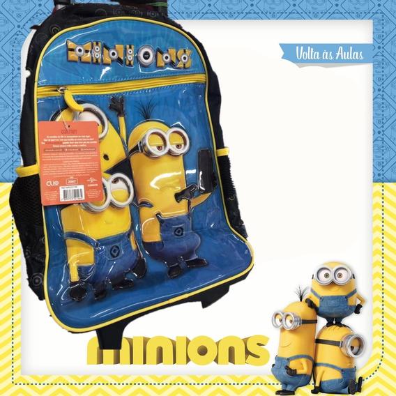 Mochila C/rodinha Escolar Infantil Minions Mn2273k Cliostyle