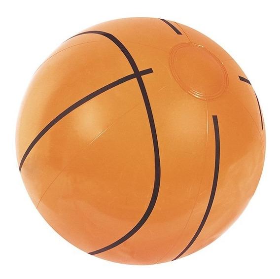 Pelota Inflable Estilo Basketball Basquetbol Naranja