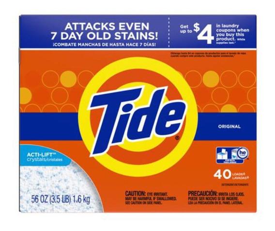 Detergente Tide En Polvo Original 40 Lavadas