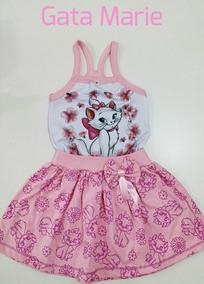 Vestido Infantil Gatinha Marie Temático Personagem