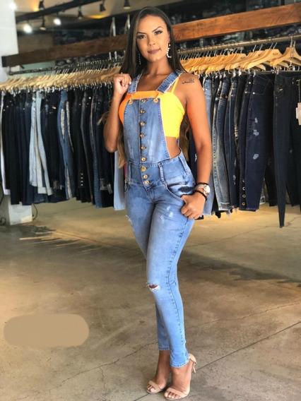 Jardineira Feminina Ri19 Jeans Alaças Reguláveis 64416