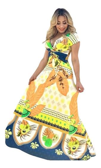 Vestido Feminino Longo Postagem Rápida Moda Pronta Entrega!