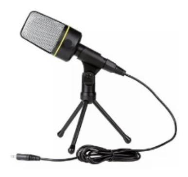 Microfone Condensador Com Mini Tripe