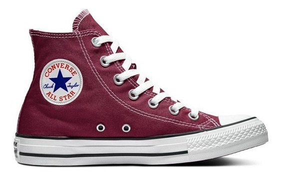 Zapatillas Botita Converse All Star Hi Maroon