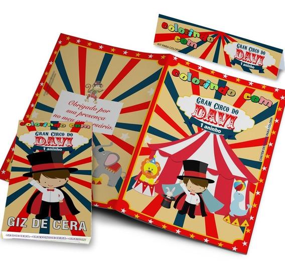 50 Kits Colorir Revistinha Personalizada E Giz De Cera