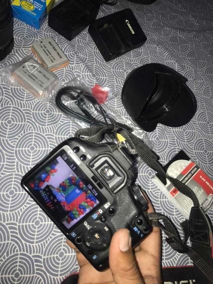 Câmera Cânon T1 Usada + Baterias Extra. Foco Com Defeito