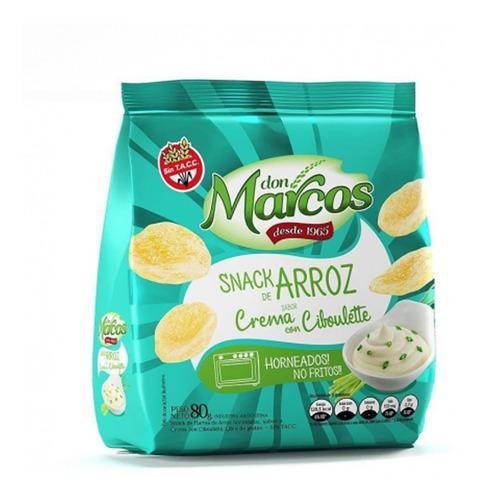 Snacks De Arroz Sabor Crema Con Ciboulette Don Marcos