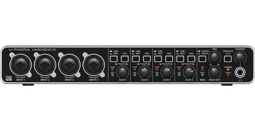 Interfaz De Grabación Behringer Umc404hd Interface U-phoria