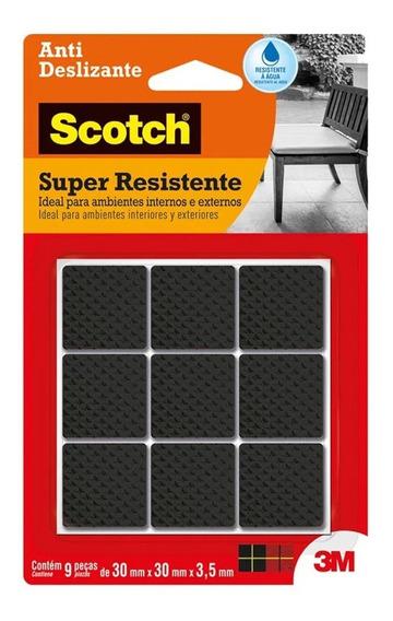 Protetor Anti Deslizante Scotch Quadrado G Preto 30x30x3,5mm