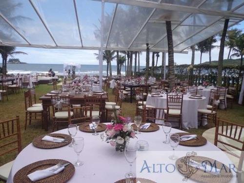 Imagem 1 de 30 de Casa Para Festas De Casamento - Pé Na Areia - Guarujá - 26000 - 2814877